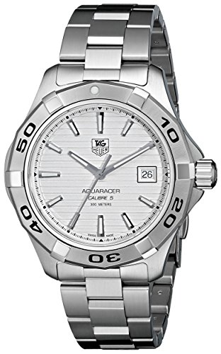 Aquaracer Silver Dial - TAG Heuer Men's WAP2011BA0830 Aquaracer Silver Dial Watch