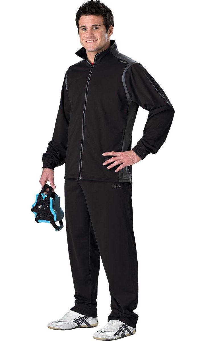 Cliff Keen All American Warmup Suit - 2XL - Black/Gray