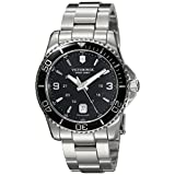 Victorinox Swiss Army Men's 241697 Maverick Watch with Black Dial and Stainless Steel Bracelet