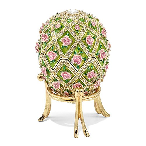 Roy Rose Gifts Bejeweled Floral Rose Garden Musical Egg Luxury Gifts