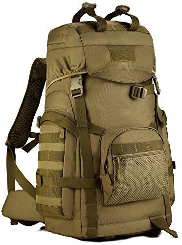 DCCN Rucksack 60L Tactical Rucksack Wanderrucksack Molle Taktischer Trekkingrucksack mit Rucksack-regenhülle