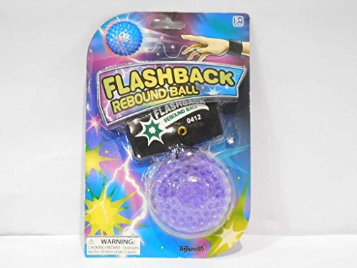 NightZone Light up Sports Flash Back Rebound Ball (Sold Individually - Colors Vary)