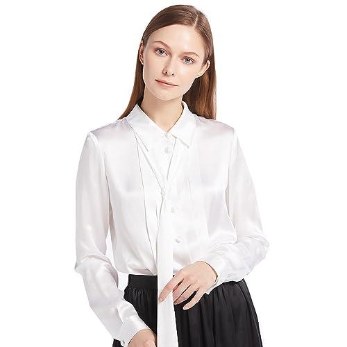 Lilysilk Camisa de Seda con Cinta