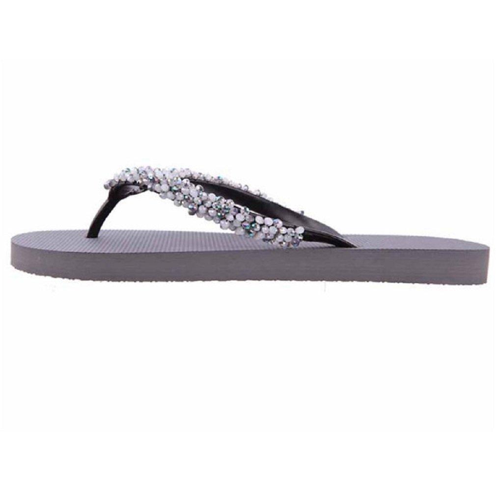 Damen Zehentrenner Precious Sommer Classic von uzurii Farbe Silber Flip Flops Sommer Precious Schuhe - 698afd