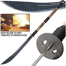 Aged and Antiqued Japanese Samurai Warrior Naginata