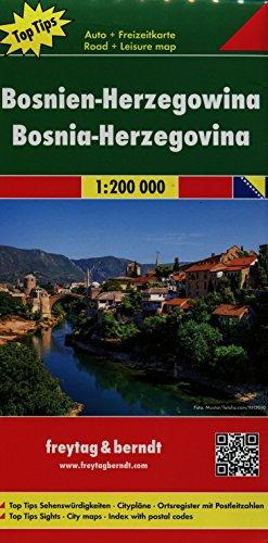 Bosnia / Herzegovina Road Map 1:200K (English, Spanish, French, Italian and German Edition)