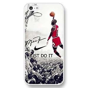 UniqueBox - Customized Personalized White Hard Plastic iPhone 5C Case, NBA Superstar Chicago Bulls Michael Jordan iPhone 5C case, Only Fit iPhone 5C Case