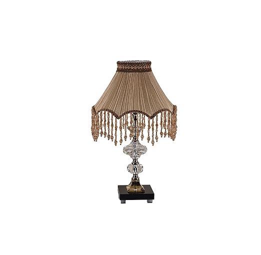 ZfgG Gran lámpara de mesa de cristal europea Habitación de lujo ...