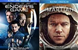 Space Adventure Blu Ray double Feature Sci-Fi Ender's Game & The Martian Matt Damon Movie Set