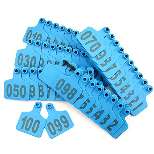 Pictures of WMYCONGCONG 1-100 Number Plastic Livestock Blue 7