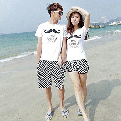 ペアルック カップル tシャツ お揃い おそろい 恋人 半袖 ルームウェア 上下セット 夏 セットアップ スウェット