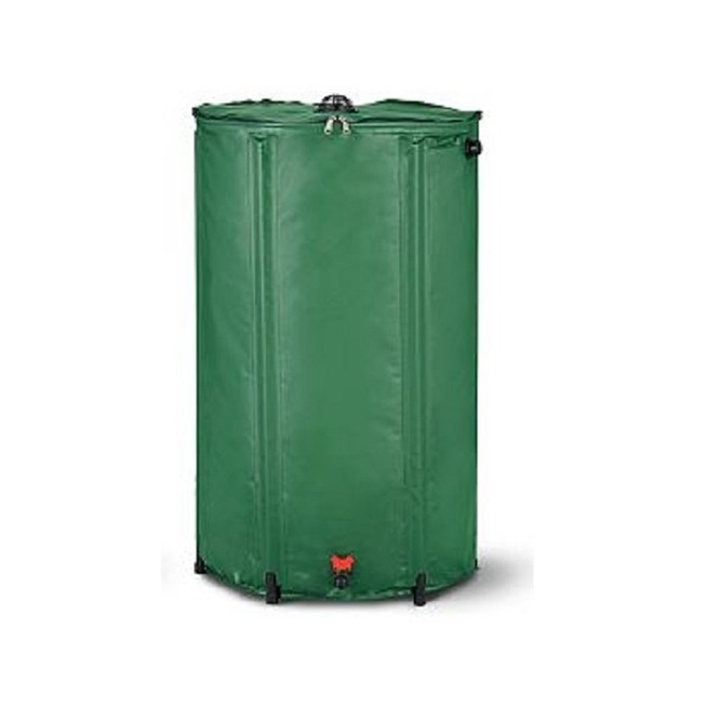 Home Solutions Collapsible Rain Barrel Water Collection - Durable PVC, Easy Storage - Choose Size (74 Gal)