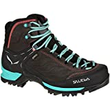 Salewa Women's Mtn Trainer Mid GTX-W Mountaineering Boot, Magnet/Viridian Green, 6.5 D US