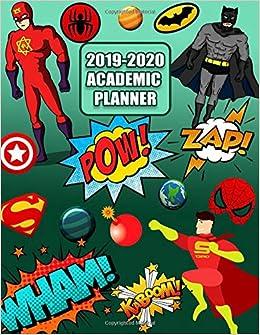 2019-2020 Academic Planner: Comic Super ... - Amazon.com
