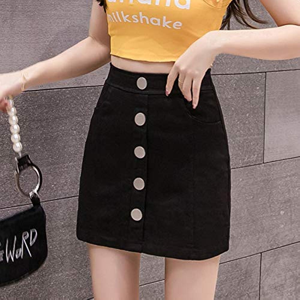 DER Nueva Versión Coreana De Cintura Alta Delgada Mujer Falda ...