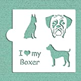 I Love my Boxer Cookie and Craft Stencil CM023 by Designer Stencils