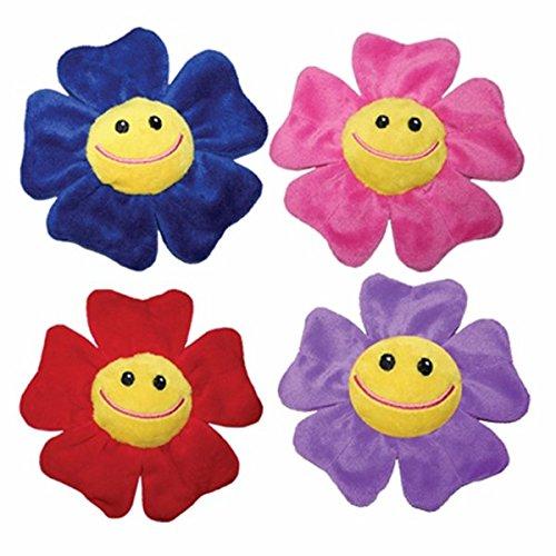 Mirage Pet Products Wild Bunch Plush Flower Dog Squeak Toy S