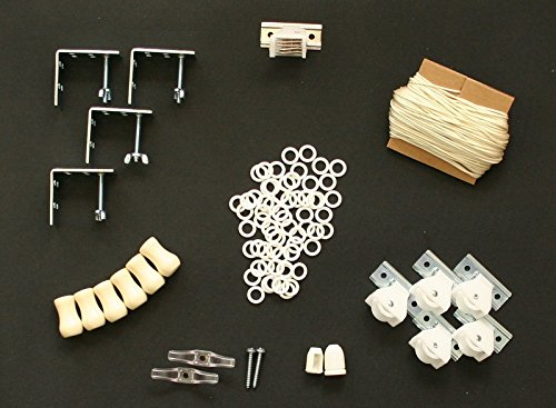 AN SHADE HARDWARE KIT, in Ivory (cord lock, pulleys, cord, brackets, cleats, rings, cord condenser) ()