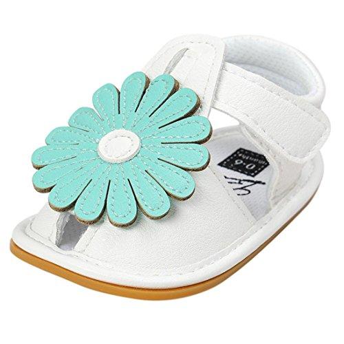 Hunpta Baby Girl Flower Sandalen Schuh Freizeitschuhe Sneaker Anti Rutsch weichen Sohle Kleinkind Grün