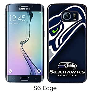 Seattle Seahawks 07 Black Case with Fashion and Luxurious Design for Custom Samsung Galaxy S6 Edge