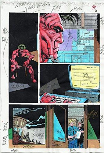 BATMAN ANNUAL COMICS #17 PRODUCTION ART ORIGINAL PAGE #26 SIGNED ADRIENNE ROY