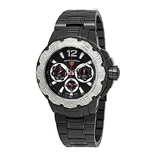 Swiss Legend Men's 'Ultrasonic' Quartz Stainless Steel Watch, Color:Black (Model: - Watches Legend Swiss Men