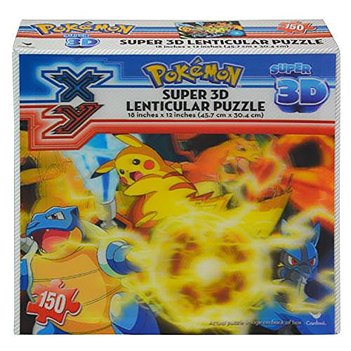 Pokemon super 3D Lenticular Puzzle, 150 pieces