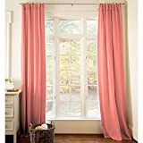 Carousel Designs Solid Coral Drape Panel 96-Inch Length Standard Lining 42-Inch Width