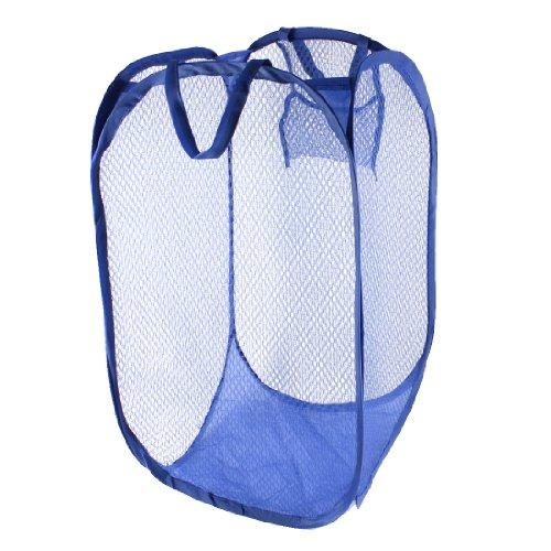 UPC 700724372796, Nylon Home Laundry Foldable Mesh Underwear Clothing Washing Bag Blue