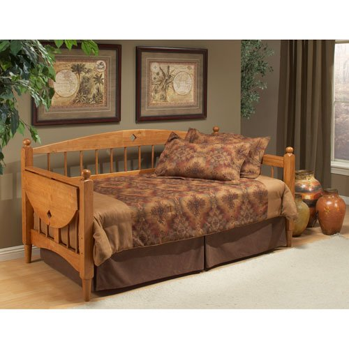 Hillsdale Dalton Wood Daybed in Medium Oak Finish with Suspe