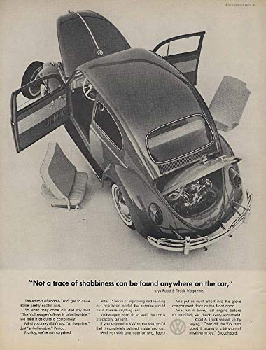 Not a trace of shabbiness can be found anywhere Volkswagen ad 1962 L
