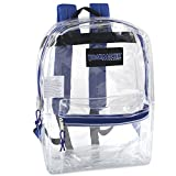 Clear Backpack With Reinforced Straps For Security & Sporting Events (Blue)