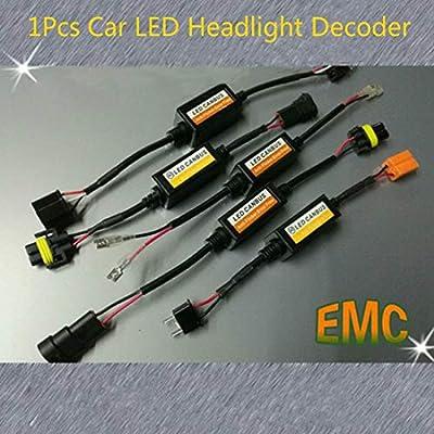 H1-11 LED Headlight Canbus Error Free Warning Resistors Decoder Anti Flicker (H7): Automotive
