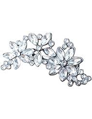 womens rhinestone flower crystal hair clip wedding