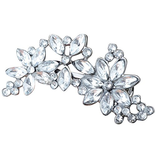 Womens Rhinestone Flower Crystal Hair Clip Wedding Party
