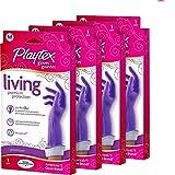 Playtex Living Reuseable Rubber Cleaning Gloves, Medium (Pack - 4)