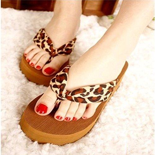mhgao señoras alta sandalias y zapatillas playa Zapatillas de Moda Casual 2