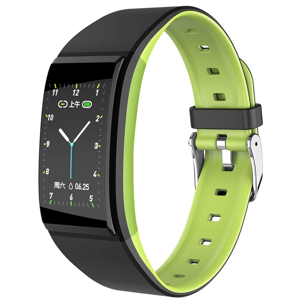 FEDULK Sports Wristband Smart Watch Heart Rate Blood Pressure Healthy Monitoring Android iOS Smartwatch(Green) by FEDULK