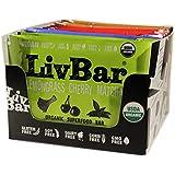 LivBar Nutrition Health Food Bars | High Protein Organic Gluten-Free Superfood | Variety Pack with Vegan Lemongrass Cherry Matcha, 12 count