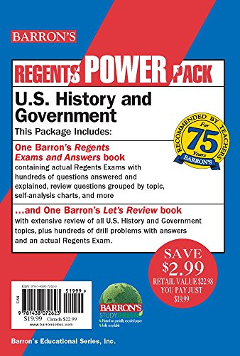 U.S. History and Government Power Pack (Regents Power Packs)