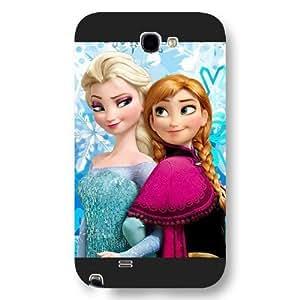 Elsa Anna Olaf Black Hard Case For Samsung Galaxy Note 2,Disney Elsa Anna Olaf