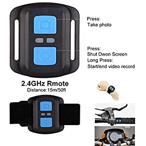"4K Sports Action Camera Wifi with Remote 98In Waterproof Case 2"" LCD HD 1080P Video Extreme Underwater Sport Cam Helmet Digital Camcorder for Biking Diving Motorcycle Drift With Mount Accessories"
