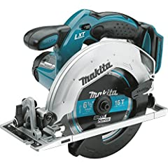 "The Makita 18V LXT Lithium-Ion cordless 6-1/2"" Circular saw delivers cordless cutting power to the job site. The XSS02Z (Tool only) has a Makita-built high-torque motor and a compact design for a range of cutting applications, and will cut 2x..."