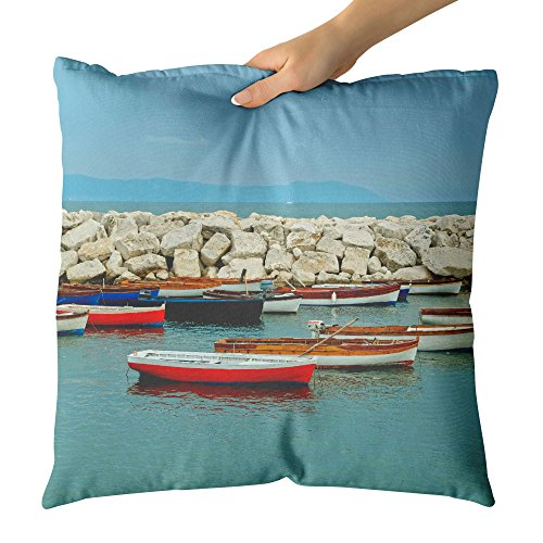 r Rock - Decorative Throw Pillow Cushion - Picture Photography Artwork Home Decor Living Room - 18x18 Inch (43CD5) ()