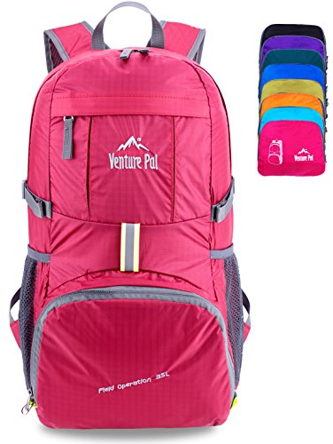 Venture Pal Ultralight Lightweight Packable Foldable Travel Camping Hiking Outdoor Sports Backpack Daypack -