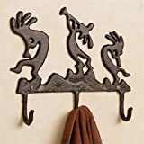 Touch of Class Kokopelli Serenade Wall Hook Rack Rustic Brown