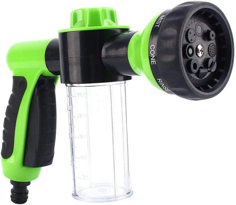 Goolsky - Pulverizador de espuma para jardín, manguera de agua, boquilla de espuma, dispensador de jabón, pistola para lavado de coches, mascotas, ducha y plantas de riego