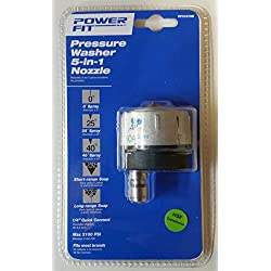 Powerstroke 205786 PF31078 5-In-1 Quick Connect Changeover Pressure Washer Spray Nozzle