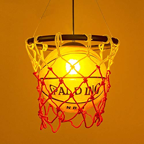 FidgetGear Basketball Pendant Light Glass Ceiling Lamp Retro Suspension Chandelier Fixture by FidgetGear (Image #1)