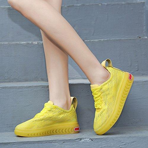 de Verano del los SBL Las Zapatos Paño Mujeres 39 de Seda Zapatos Zapatos de con Respirables brotan de Moda la los Amarillo Casuales Los Zapatos del los SnYqwHYr0